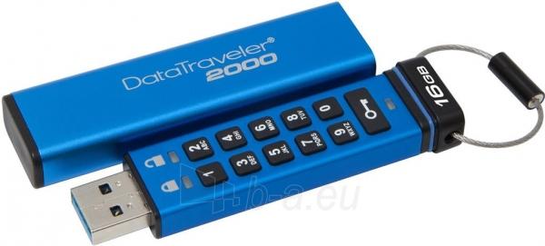 Atmintinė Kingston 16GB DataTraveler 2000, AES Encryption, USB 3.0 Paveikslėlis 1 iš 1 310820044989