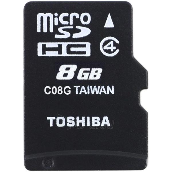 Atmintinė TOSHIBA 8GB microSD M102 class 4 with adapter Paveikslėlis 1 iš 1 310820014466