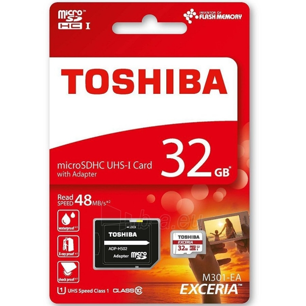 Atmintinė TOSHIBA EXCERIA M301-EA - 32 GB Paveikslėlis 1 iš 1 310820014453