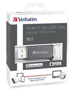 Atmintinė Verbatim USB DRIVE 3.0 LIGHTNING iSTORE n GO 16GB Paveikslėlis 6 iš 6 310820045154