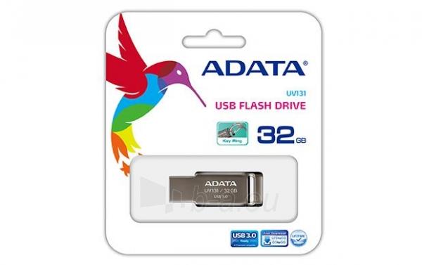 Atmintukas Adata DashDrive UV131 32GB USB 3.0 Gray Paveikslėlis 1 iš 1 250255122675