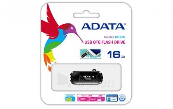 Atmintukas Adata Durable UD320 16GB USB 2.0, USB  micro USB, Juodas Paveikslėlis 1 iš 3 250255122676