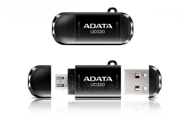 Atmintukas Adata Durable UD320 16GB USB 2.0, USB  micro USB, Juodas Paveikslėlis 2 iš 3 250255122676