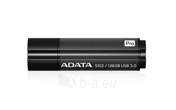 Atmintukas Adata S102 Pro 128GB USB 3.0 Titanium Gray, Sparta 100/50MBs Paveikslėlis 2 iš 2 250255123429