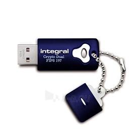 Atmintukas Integral Crypto Dual 4GB, Aparatinis šifravimas AES 256 bit, FIPS 197 Paveikslėlis 1 iš 1 250255123454