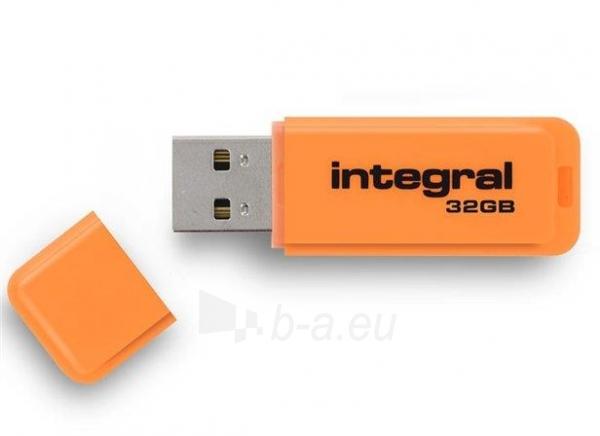 Atmintukas Integral Neon 32GB, Oranžinis Paveikslėlis 1 iš 1 250255123459