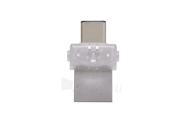 Atmintukas Kingston 32GB DT microDuo 3C, USB 3.0/3.1  Type-C flash drive Paveikslėlis 2 iš 2 250255123491