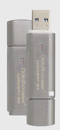 Atmintukas Kingston DTLPG3 64GB USB3 135/40MBs, Aparatinis šifravimas Paveikslėlis 1 iš 1 250255123223
