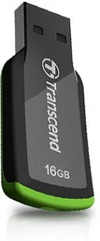 Atmintukas Transcend Capless JF360 16GB, Juodai-žalias Paveikslėlis 1 iš 1 250255122806