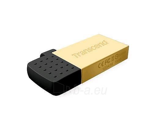 Atmintukas Transcend Jetflash 380G 16GB, USB/micro USB, Auksinės spl. Paveikslėlis 1 iš 1 250255122808