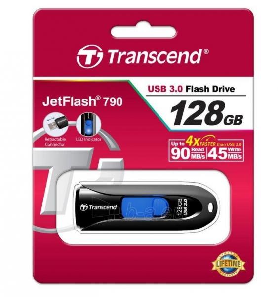 Atmintukas Transcend Jetflash 790 128GB, USB 3.0, Ištraukiamas Paveikslėlis 3 iš 3 250255123233