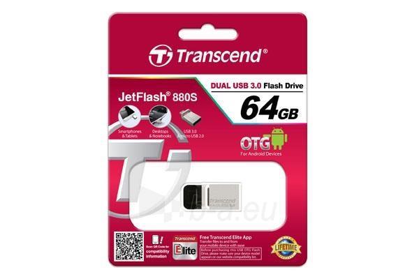 Atmintukas Transcend Jetflash 880 64GB USB 3.0 Paveikslėlis 3 iš 3 250255123165