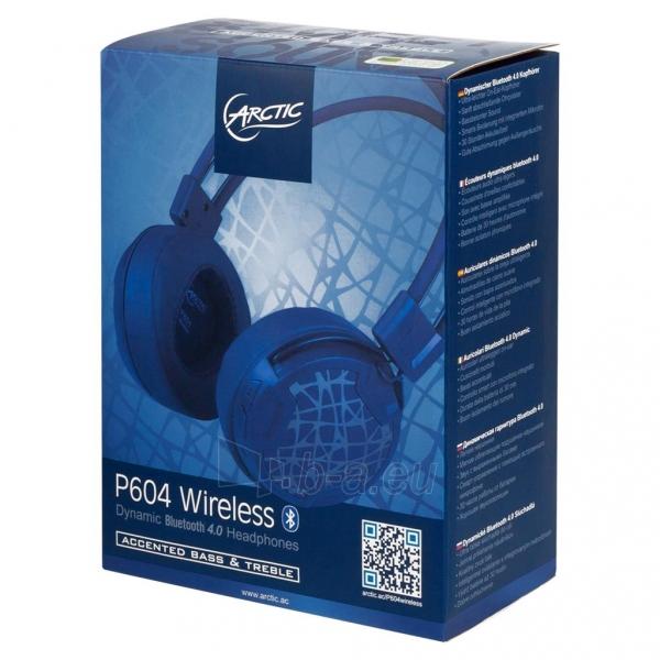 Ausinės Arctic ultra-lightweight headphones P604, wireless, bluetooth 4.0, blue Paveikslėlis 4 iš 4 310820001795