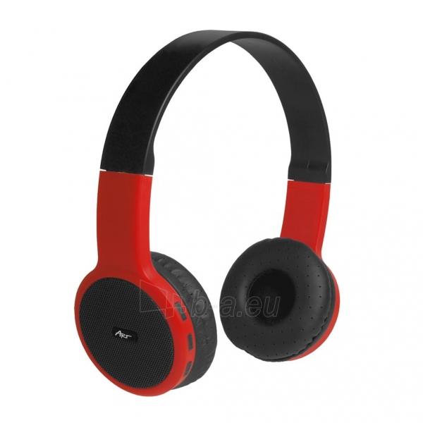 Ausinės ART Bluetooth Headphones with microphone AP-B05 black/red Paveikslėlis 1 iš 5 310820045933