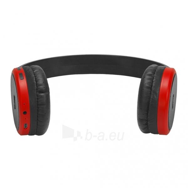 Ausinės ART Bluetooth Headphones with microphone AP-B05 black/red Paveikslėlis 3 iš 5 310820045933