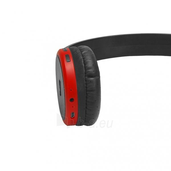 Ausinės ART Bluetooth Headphones with microphone AP-B05 black/red Paveikslėlis 4 iš 5 310820045933