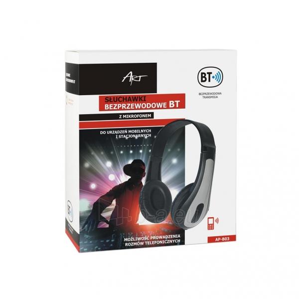 Ausinės ART Bluetooth Headphones with microphone AP-B03 grey Paveikslėlis 5 iš 5 250255091340