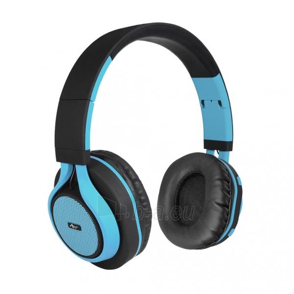 Ausinės ART Bluetooth Headphones with microphone AP-B04 black/blue Paveikslėlis 1 iš 7 310820001917