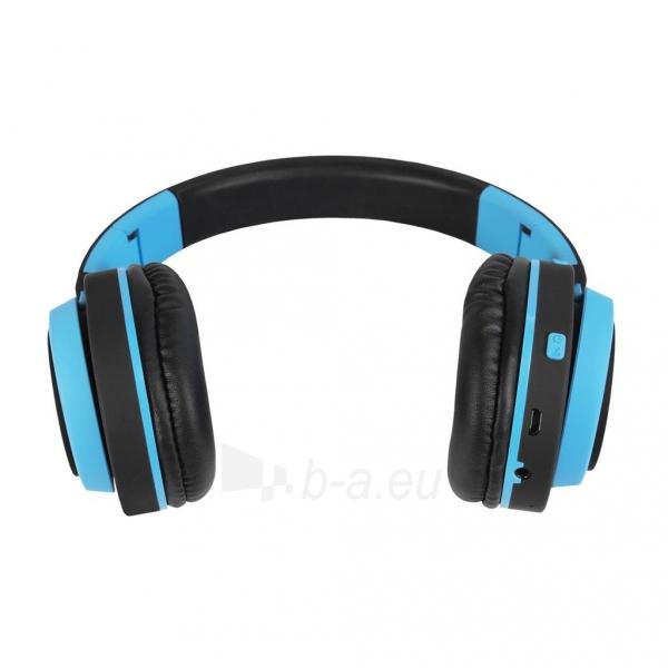 Ausinės ART Bluetooth Headphones with microphone AP-B04 black/blue Paveikslėlis 2 iš 7 310820001917