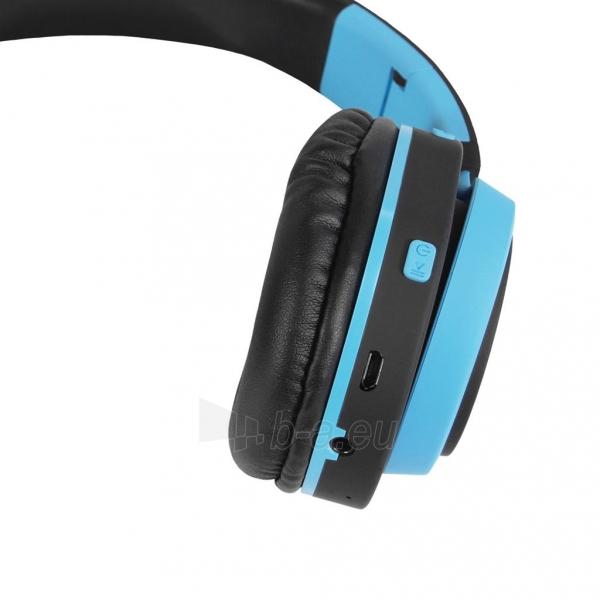 Ausinės ART Bluetooth Headphones with microphone AP-B04 black/blue Paveikslėlis 3 iš 7 310820001917
