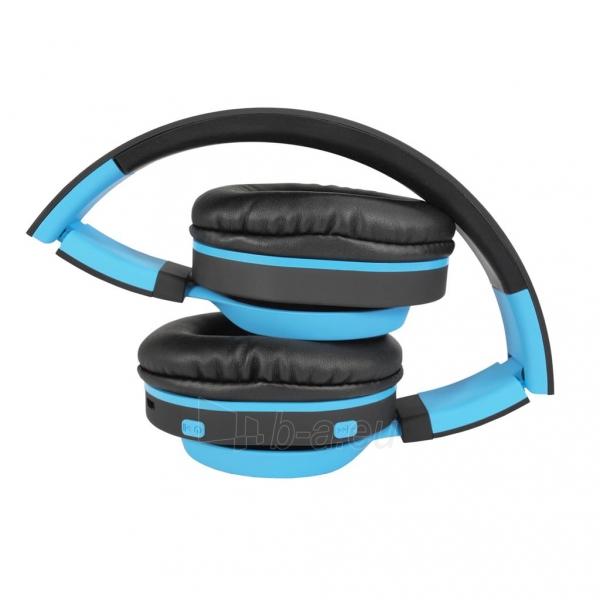Ausinės ART Bluetooth Headphones with microphone AP-B04 black/blue Paveikslėlis 4 iš 7 310820001917
