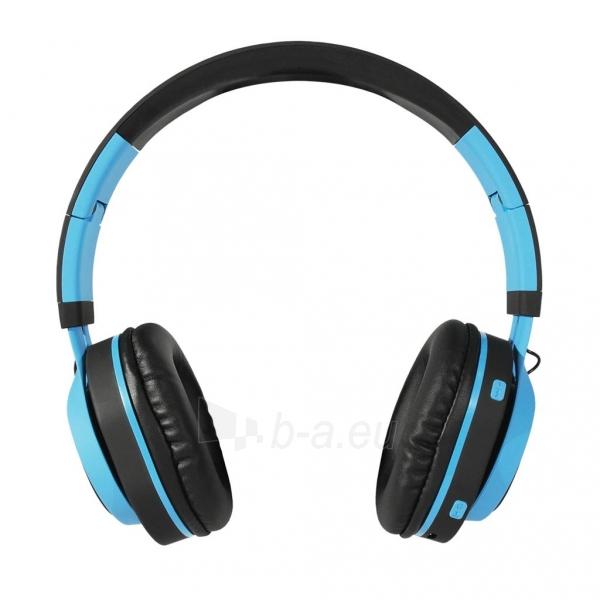 Ausinės ART Bluetooth Headphones with microphone AP-B04 black/blue Paveikslėlis 5 iš 7 310820001917
