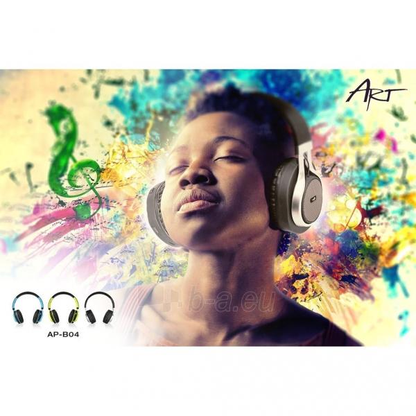 Ausinės ART Bluetooth Headphones with microphone AP-B04 black/blue Paveikslėlis 7 iš 7 310820001917