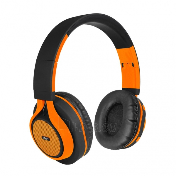 Ausinės ART Bluetooth Headphones with microphone AP-B04 black/orange Paveikslėlis 1 iš 7 310820017137