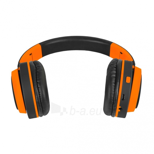 Ausinės ART Bluetooth Headphones with microphone AP-B04 black/orange Paveikslėlis 2 iš 7 310820017137