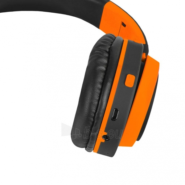 Ausinės ART Bluetooth Headphones with microphone AP-B04 black/orange Paveikslėlis 3 iš 7 310820017137