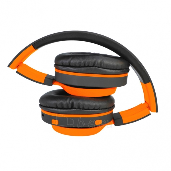 Ausinės ART Bluetooth Headphones with microphone AP-B04 black/orange Paveikslėlis 4 iš 7 310820017137