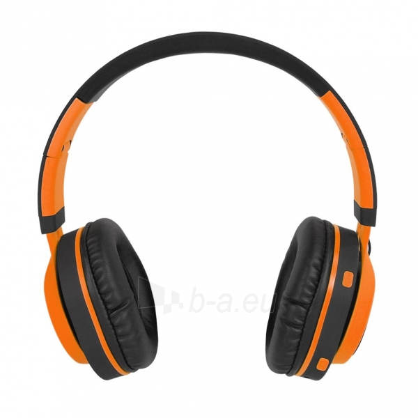 Ausinės ART Bluetooth Headphones with microphone AP-B04 black/orange Paveikslėlis 5 iš 7 310820017137