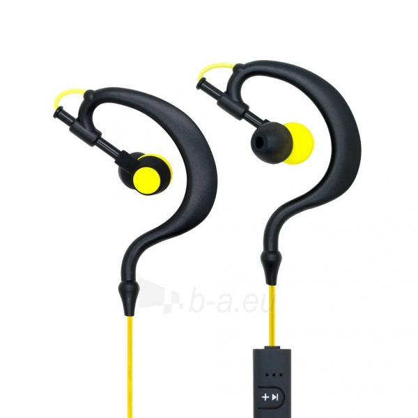 ART Bluetooth Headphones with microphone AP-B23 black/yellow sport (EARHOOK) Paveikslėlis 1 iš 4 250255091102