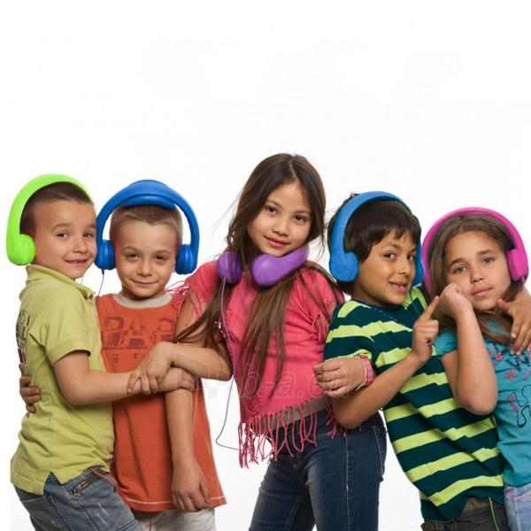 Ausinės ART Headphones for kids AP-T01G green Paveikslėlis 4 iš 6 310820001475
