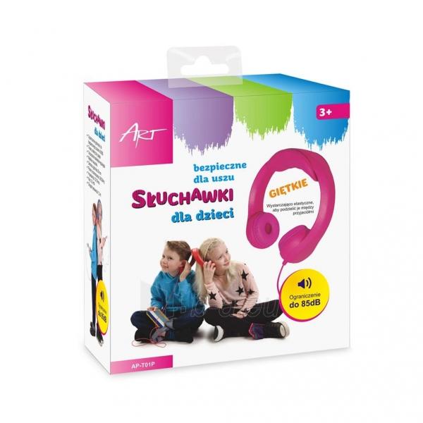 Ausinės ART Headphones for kids AP-T01P pink Paveikslėlis 6 iš 6 310820001476