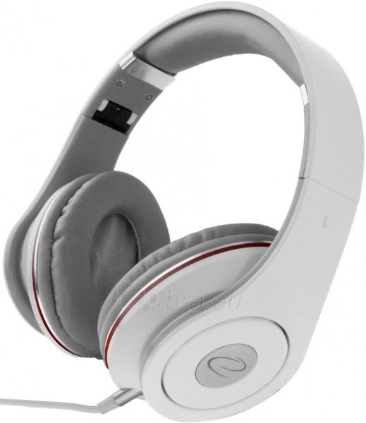 Audio/stereo ausinės Esperanza EH141W RENELL| 5m su garso reguliatoriumi | Balta Paveikslėlis 1 iš 3 250255090478