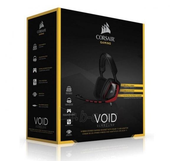 Ausinės Corsair Hybrid Stereo Gaming Headset with Dolby 7.1 USB Adapter Paveikslėlis 3 iš 3 310820001819