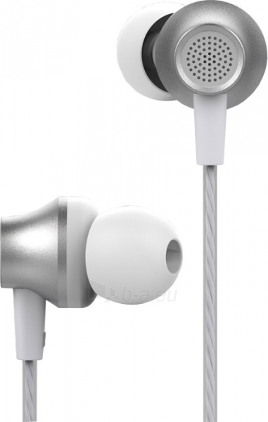 Ausinės Devia Metal In-ear Earphone with Remote and Mic (3.5mm) silver Paveikslėlis 2 iš 2 310820218369