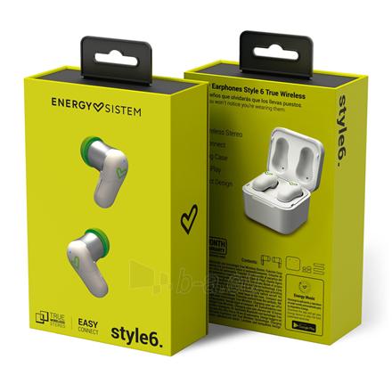 Ausinės Energy Sistem Earphones Style 6 True Wireless In-ear, Microphone, Wireless connection, White Paveikslėlis 5 iš 5 310820222348