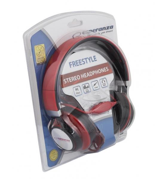 Esperanza EH159R FREESTYLE Audio/stereo ausinės     su garso reguliatoriumi 2m Paveikslėlis 2 iš 3 250255091195