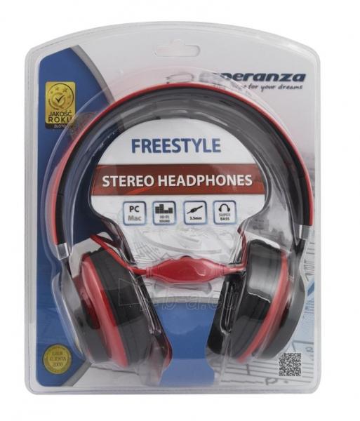 Esperanza EH159R FREESTYLE Audio/stereo ausinės     su garso reguliatoriumi 2m Paveikslėlis 3 iš 3 250255091195