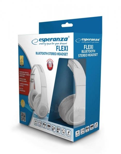 Ausinės Esperanza EH165W Belaidis Bluetooth 3.0 ausinės - FLEXI Paveikslėlis 2 iš 2 310820015501
