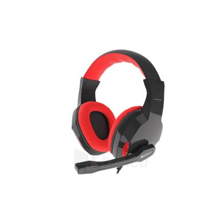 Ausinės GENESIS ARGON 110 Gaming Headset, On-Ear, Wired, Microphone, Black/Red Paveikslėlis 1 iš 5 310820220010
