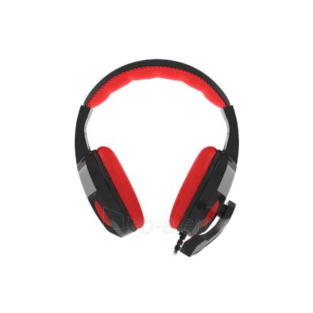 Ausinės GENESIS ARGON 110 Gaming Headset, On-Ear, Wired, Microphone, Black/Red Paveikslėlis 2 iš 5 310820220010