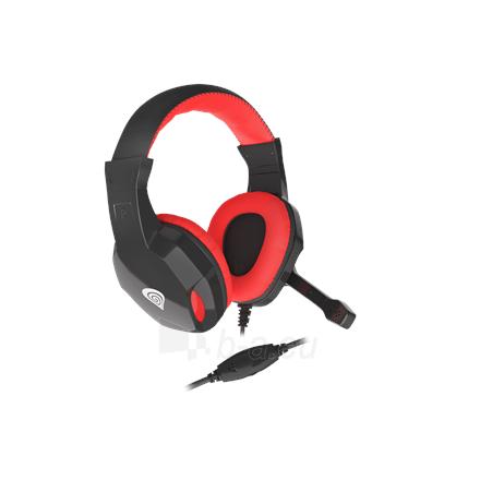 Ausinės GENESIS ARGON 110 Gaming Headset, On-Ear, Wired, Microphone, Black/Red Paveikslėlis 4 iš 5 310820220010