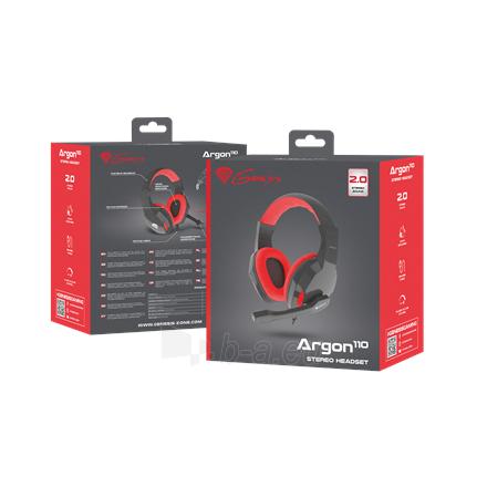 Ausinės GENESIS ARGON 110 Gaming Headset, On-Ear, Wired, Microphone, Black/Red Paveikslėlis 5 iš 5 310820220010