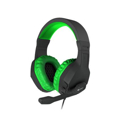 Ausinės GENESIS ARGON 200 Gaming Headset, On-Ear, Wired, Microphone, Green Paveikslėlis 1 iš 5 310820224230