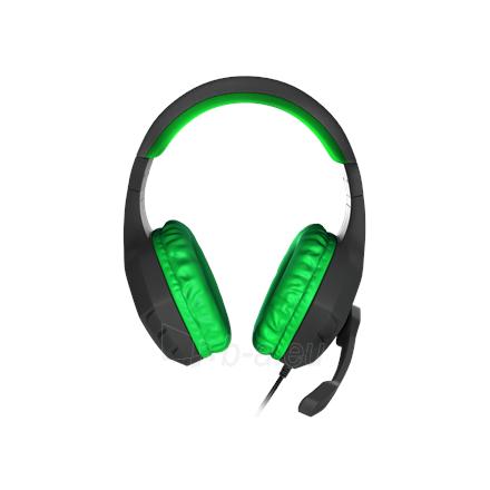 Ausinės GENESIS ARGON 200 Gaming Headset, On-Ear, Wired, Microphone, Green Paveikslėlis 2 iš 5 310820224230