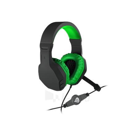 Ausinės GENESIS ARGON 200 Gaming Headset, On-Ear, Wired, Microphone, Green Paveikslėlis 3 iš 5 310820224230