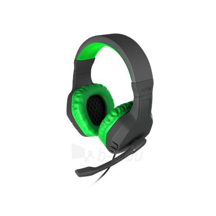 Ausinės GENESIS ARGON 200 Gaming Headset, On-Ear, Wired, Microphone, Green Paveikslėlis 4 iš 5 310820224230